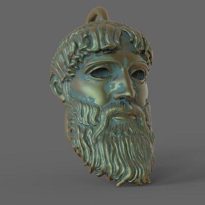 zbrush Zeus Pendentif