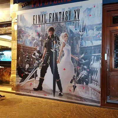 Bar restaurant éphémère aux couleurs de Final Fantasy XV