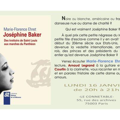 Invitation au Connétable Joséphine Baker avec guitare et clarinette