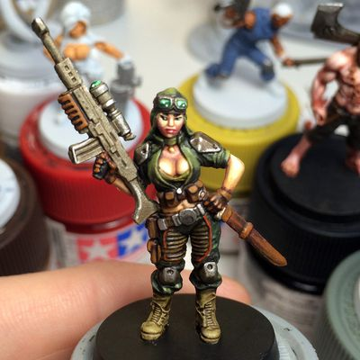 """""""The Others - 7sins"""" boardgame - painting figure"""