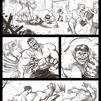 Layout Exercice : Hulk vs Sasquatch
