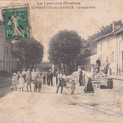 Dommartin-sous-Amance. Carte postale ancienne