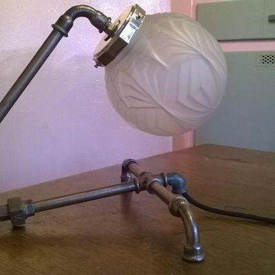 "Lampe steampunk ""Grenouille"""