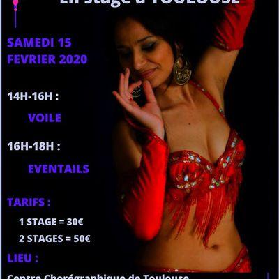 Stages de Danses Orientales avec Sorahia à Toulouse le 15 fevrier 2020