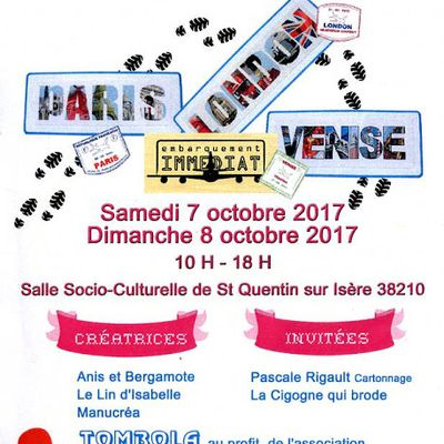 Et hop, c'est ce weekend ! Salon Saint Quentin sur Isère