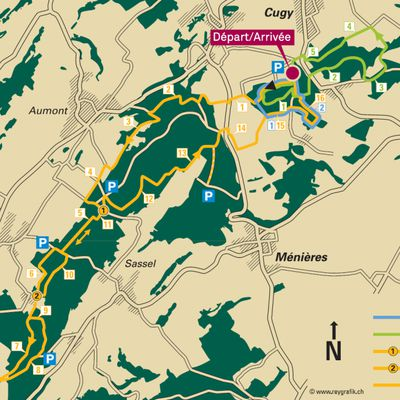 Mardi 27 Mars :  De Cugy à Combremont le Grand (circuit Helsana)