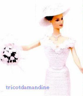 Une tenue de mariage pour miss Barbie et ses demoiselles d'honneur ...