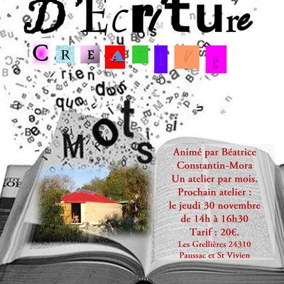 Atelier d'écriture créative, Béatrice Constantin-Mora, Dordogne