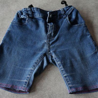 Pantalon coupé en short pour ma fille Nell avec broderie