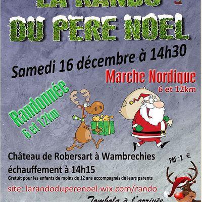 La Rando du Père Noël 2017 - samedi 16 décembre - 14h -  à Wambrechies (Robersart)