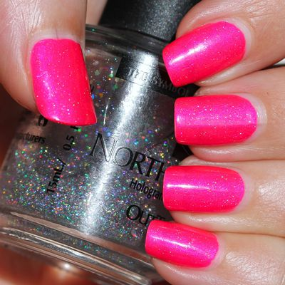 Colors by Llarowe Some Like It Hot & Northern Lights Holographic Top Coat