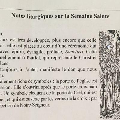 Notes liturgiques