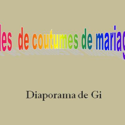 Drôles de coutumes de mariages