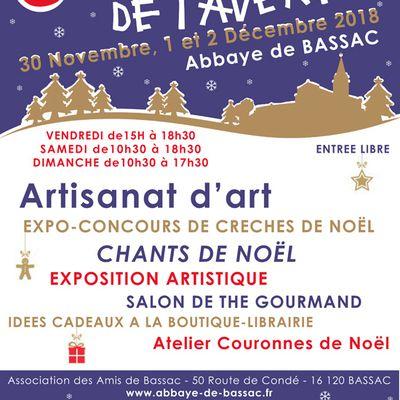 6e marché de l'Avent de l'abbaye de Bassac (Charente)