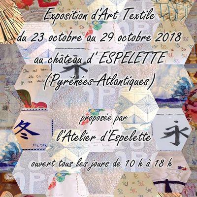 Exposition d'Art Textile au château d'Espelette (64) : du 23 au 29 octobre 2018