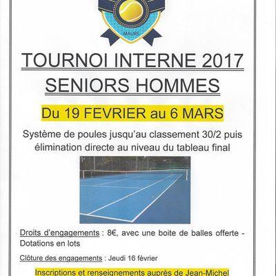 Tournois de tennis séniors-hommes à Maurs