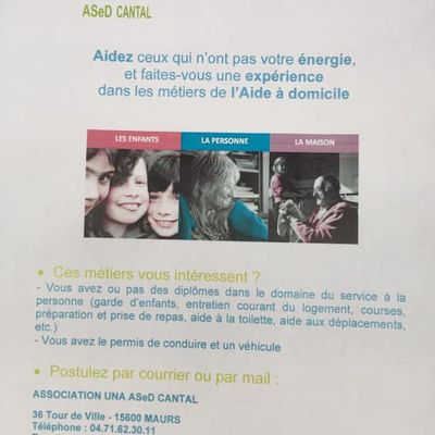 Ased Cantal recrute