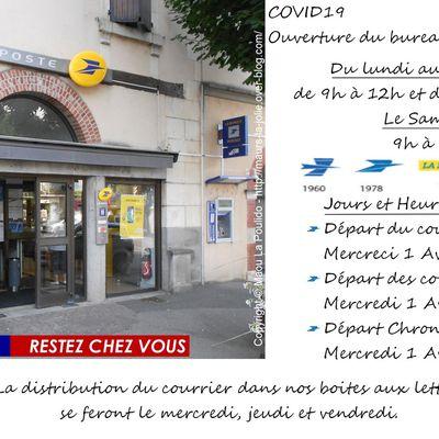 Info La Poste - Ouverture - levé - distribution
