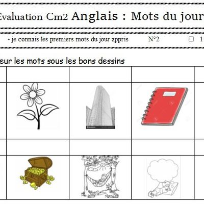 Evaluation mot du jour