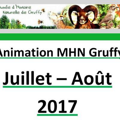 Cet été au Musée de Gruffy, ouvrez ce message pour connaître toutes les acitvités proposées...............