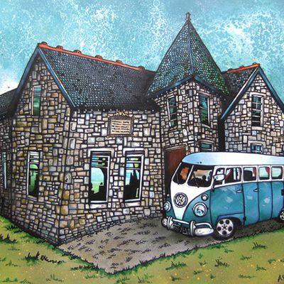 Le tableau du samedi chez Lady : Andy Peutherer, la maison écossaise
