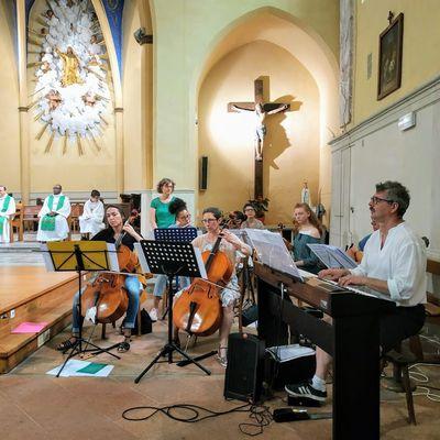 Messe et repas de fin d'année, juin 2019