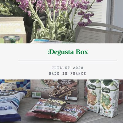 What's in the :Degusta Box : juillet 2020 - Made in France