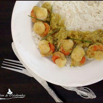 Noix de St Jacques au curry