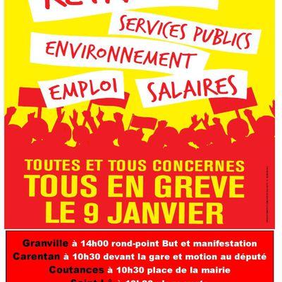 Mobilisation du 9 janvier 2020