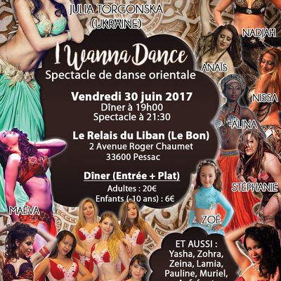 "Spectacle de danse orientale ""I WANNA DANCE"" avec Julia Torgonska"