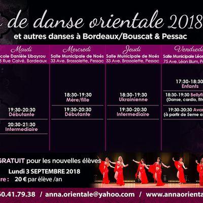 Cours de danse orientale et autres danses à Bordeaux & Pessac
