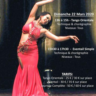 Stages Mensuels de danse orientale à Bordeaux avec Änna