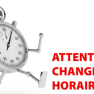 ATTENTION - MODIFICATIONS D'HORAIRES!!!! Entraînement de HB