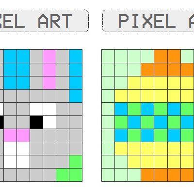 Activités Pâques : Pixel art -CP-CE1-CE2