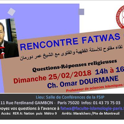 FSIP-RENCONTRE FATWAS 02: Questions-Réponses religieuses لقاء مفتوح للأسئلة الفقهية والفتوى