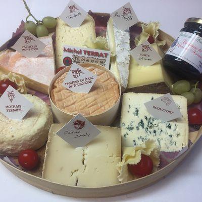 Nos fromages de décembre.