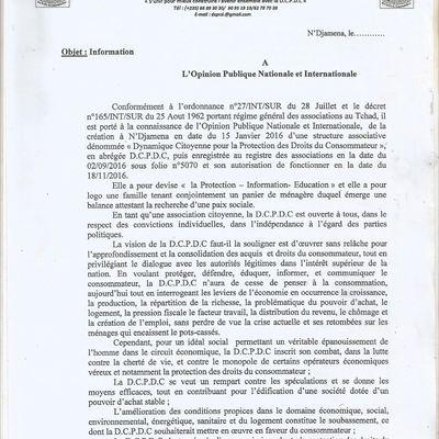 Les autorités accordent une nouvelle autorisation à une association pour la défense des consommateurs au Tchad