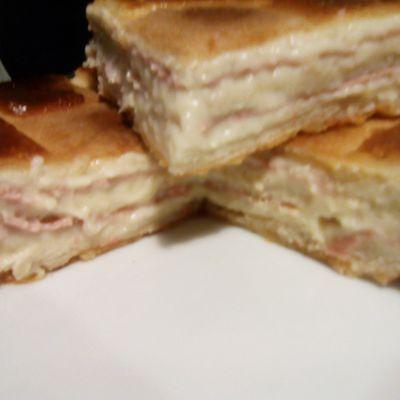 Croque cake à la béchamel (companion ou pas)