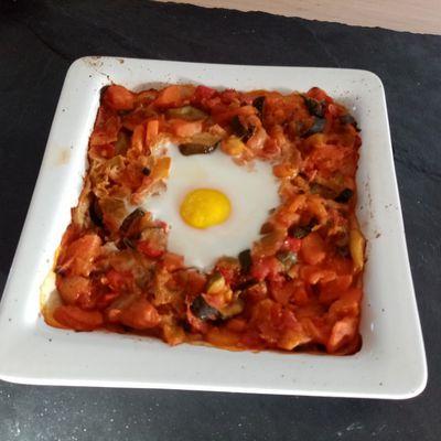 Ratatouille au cumin oeuf cassé de Cyril Lignac dans tous en cuisine