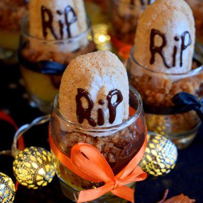 Crumble poire - recette Halloween
