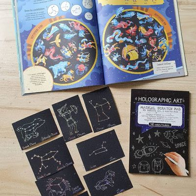 Cartes des constellations a gratter