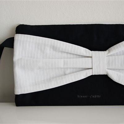 trousse à maquillage - pochette de sac à partir de tissus haute couture recyclés