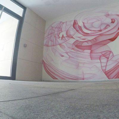 Guillaume Bottazzi - Peinture murale à Marseille - Prado