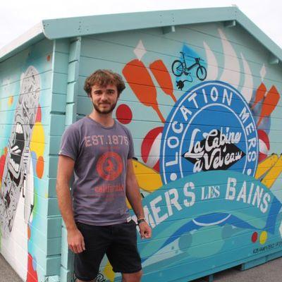 Une cabine de location de vélos et de skates sur l'esplanade de Mers-les-Bains pour tout l'été