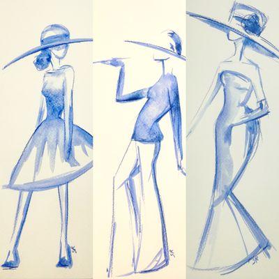 Les dames au chapeau bleu
