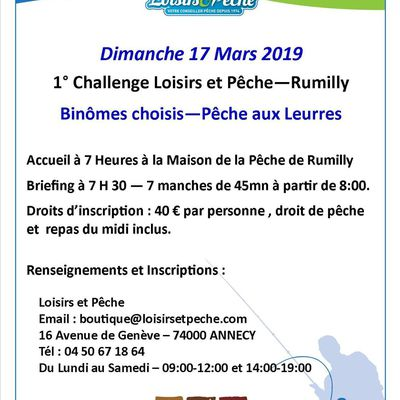 Challenge Loisirs et Pêche - Rumilly