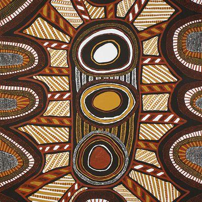 """Focus sur une peinture aborigène : """"Kulama Design"""" de Nina PURUNTATAMERI"""