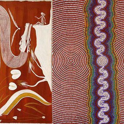 Des peintures aborigènes à voir au Musée des Arts d'Afrique et d'Asie, Vichy