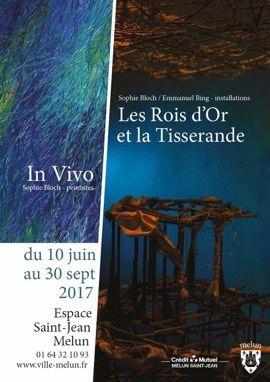 Sophie Bloch et Emmanuel Bing, Visite guidée de l' exposition à l'Espace Saint-Jean de Melun