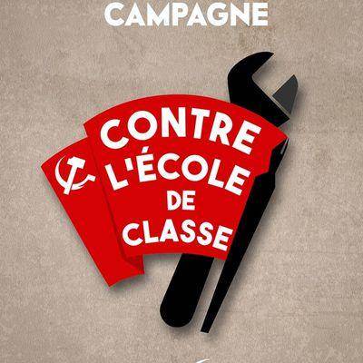 Déclaration de campagne : Contre l'Ecole de classe !